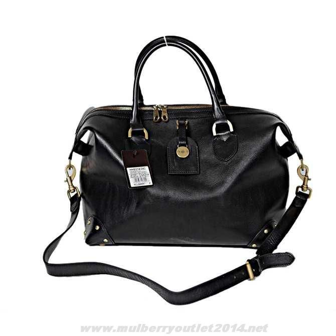 f4e914961530 Satchel Bag · Black · New Womens Mulberry Hand Clipper Black Outlet USA