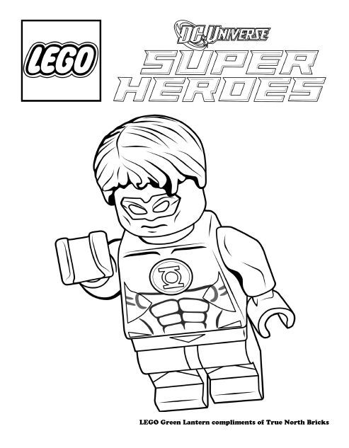 Coloring Page - Green Lantern | Lego movie coloring pages ...