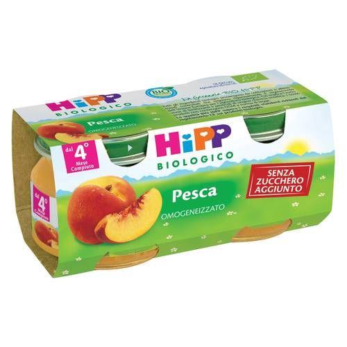 HIPP BIO Omogeneizzato Pesca mela 2x80g