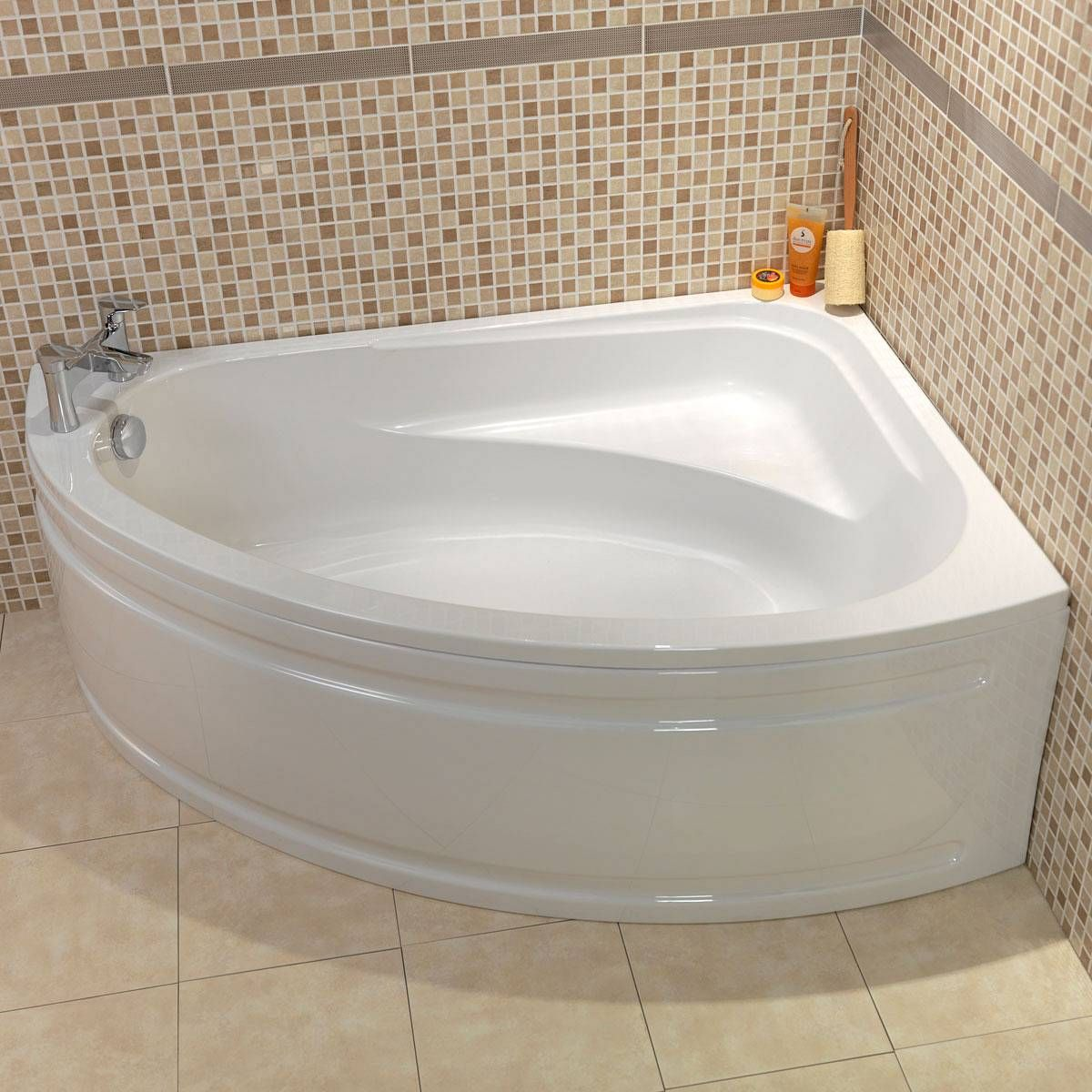 Orchard elsdon right handed corner bath in 2019 - Bathtub shower combo for small bathroom ...