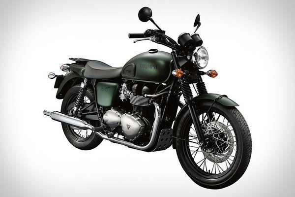 The Triumph Steve McQueen Edition motorcycle is a classic Bonneville T100