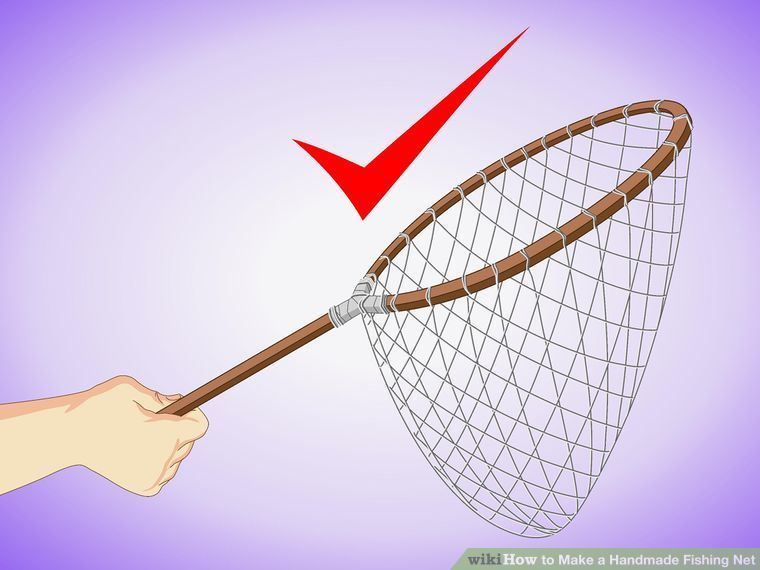 How To Make A Handmade Fishing Net 15 Steps With Pictures Diy Fishing Net Net Making Fishnet