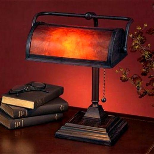 Mica Mission Craftsman Bankers Desk Lamp In 2019 Bankers