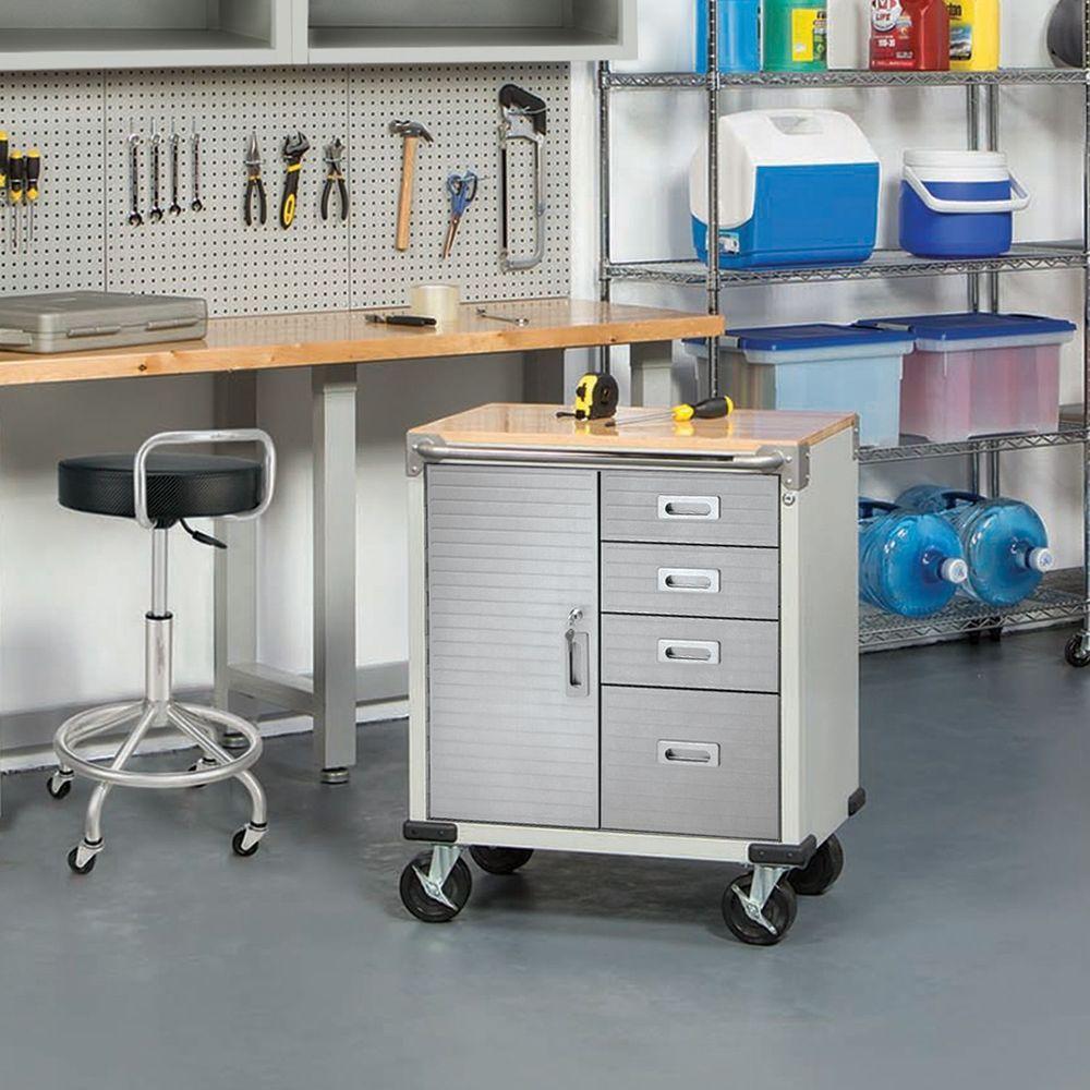 Seville 4 Drawer Rolling Garage Steel Metal Storage Cabinet Tool Box Work  Bench #UltraHDbySevilleClassics