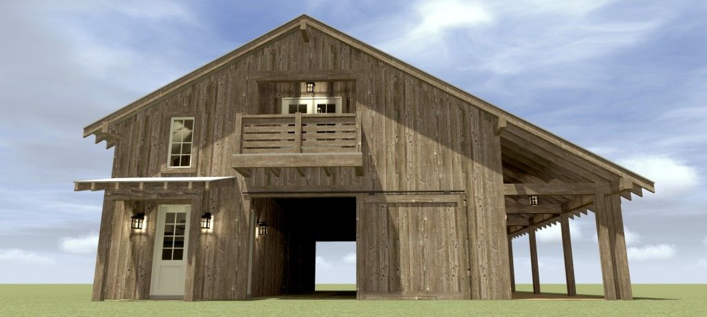 when we were planning to build a barn with living quarters above it