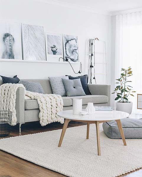 Decoração Manta no sofá Hygge, Living rooms and Room