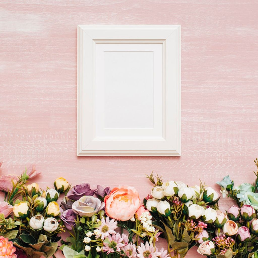 Flowers with white frame paid, , Sponsored, AD, frame