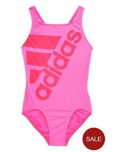 Logotipo de Adidas niñas mayores swimsuit Littlewood Pinterest Irlanda