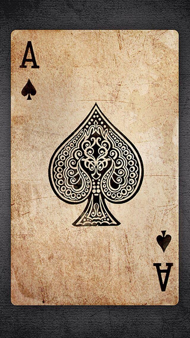 Ace Card Wallpaper : wallpaper, Spades, Wallpaper, Card,, Tattoo,