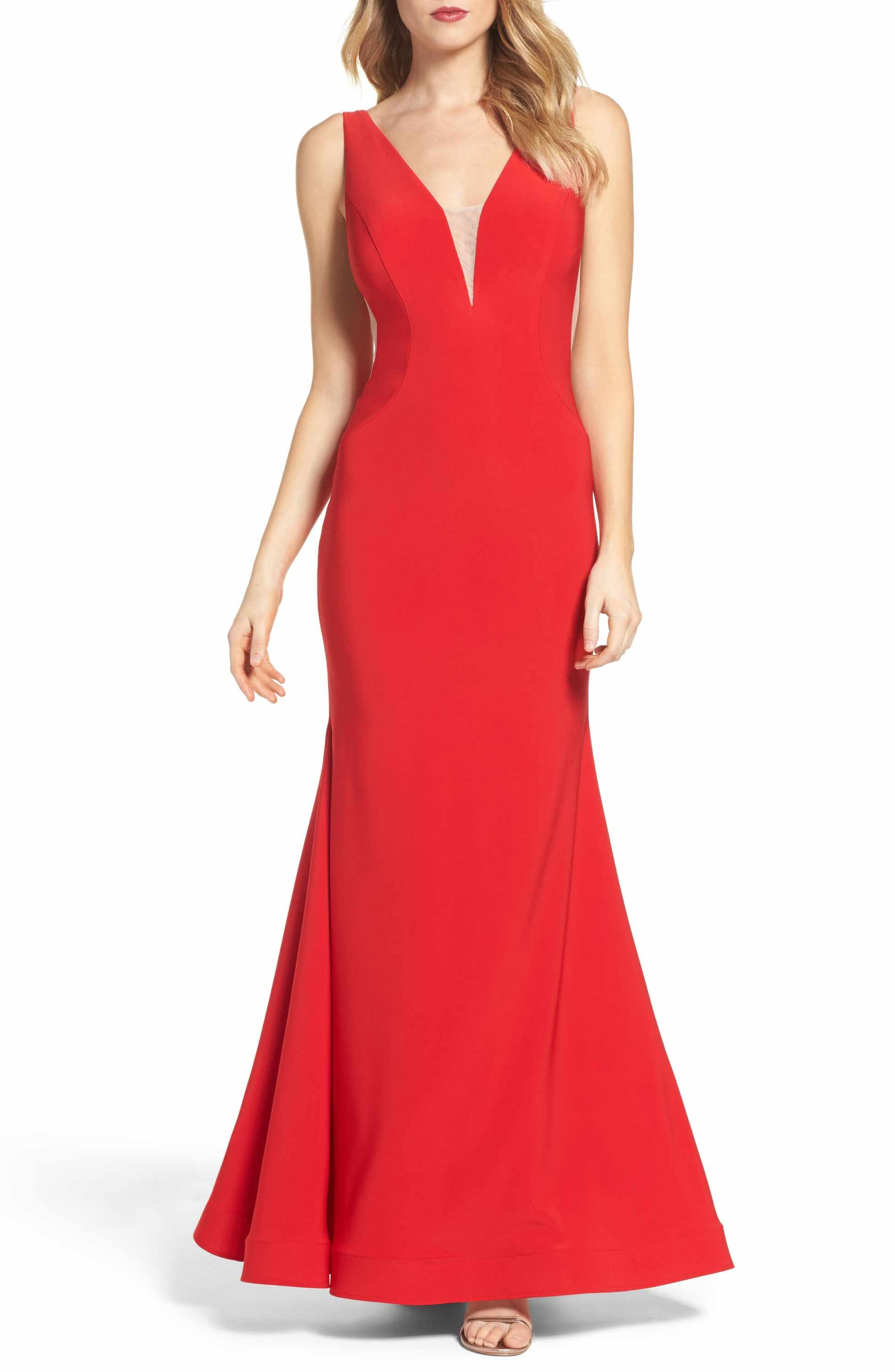 Xscape Mermaid Gown Nordstrom Beautiful Red Dresses Red Dress Maxi Red Mermaid Dress [ 3000 x 1956 Pixel ]