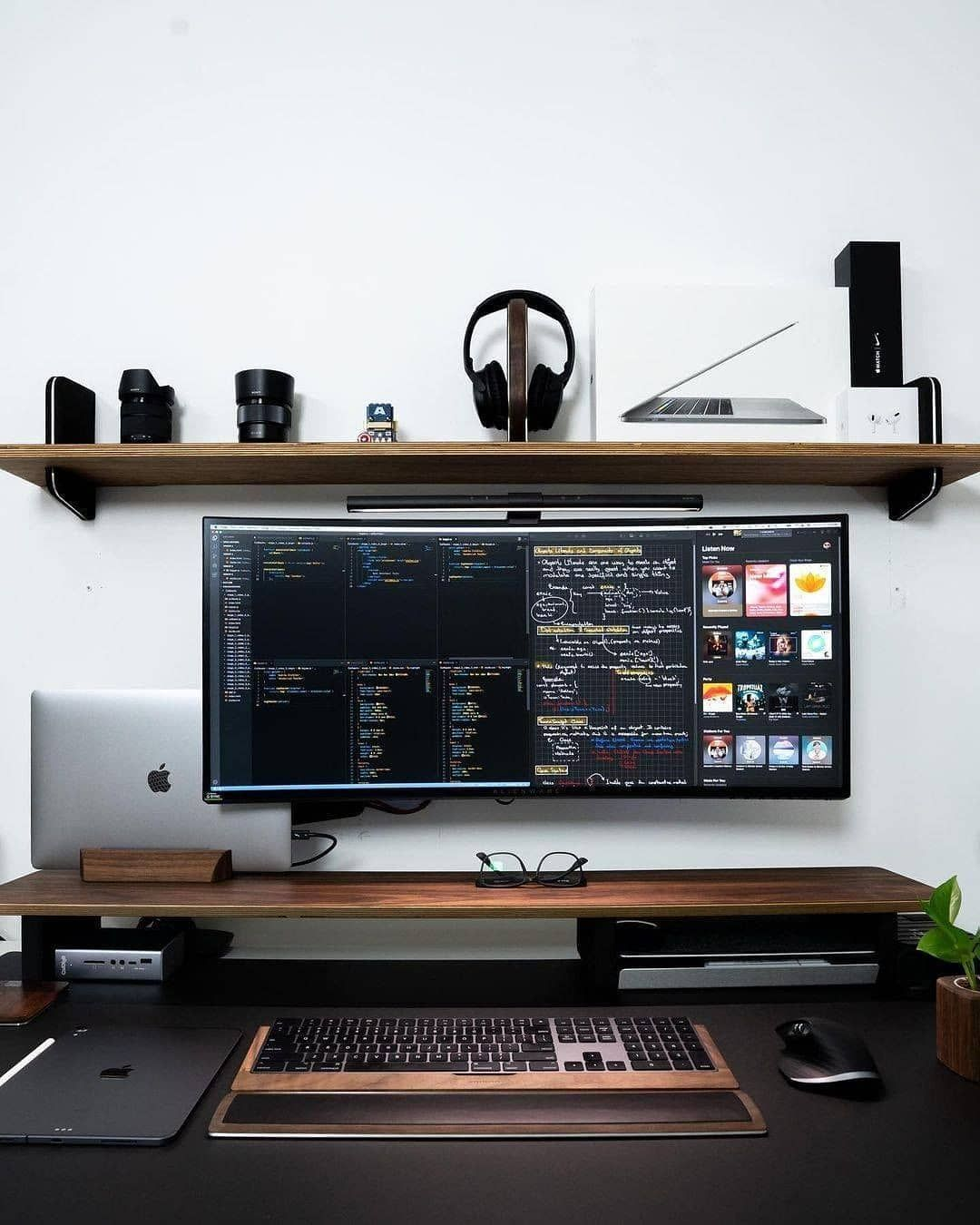 Minimal Home Setups On Instagram What Do You Think Rate This Setup 1 10 In The Comments Tag A Fr Home Office Setup Home Studio Setup Home Room Design
