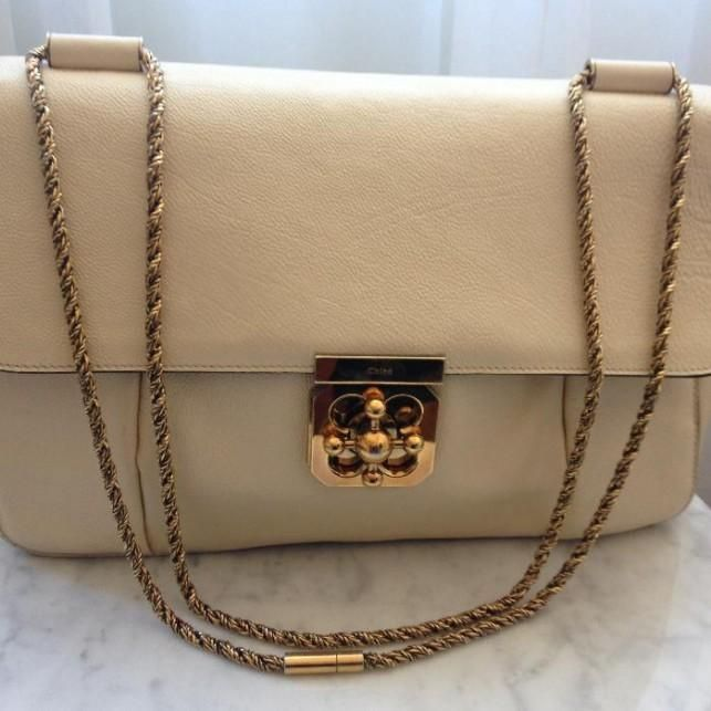 Chloé Elsie Shoulder Bag (Beige) - Shop it now at Designer-Vintage.com
