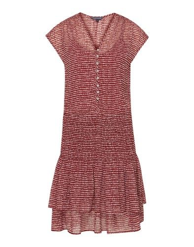 Tommy Hilfiger Sommerkleid Ellis Rot Sommerkleid Rotes Sommerkleid Kleider
