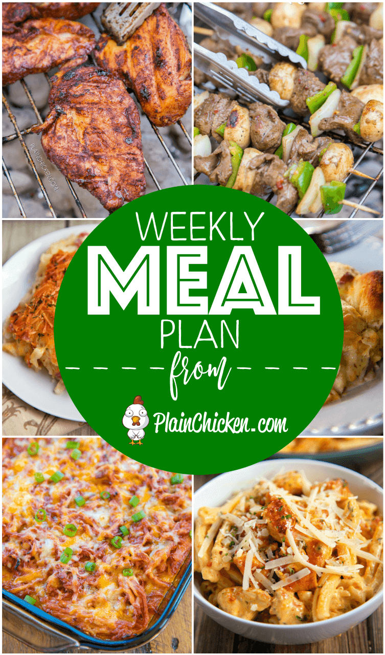 What's For Dinner? {Weekly Meal Plan} - Plain Chic