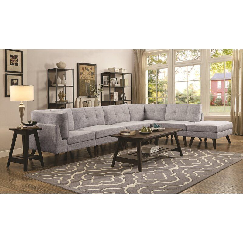 George Oliver Legere 131 Reversible Modular Sectional With Ottoman Wayfair In 2020 Furniture Value City Furniture Coaster Furniture