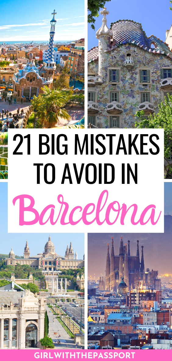 Am Expert's Guide to 21 of the Biggest Mistakes that most make when they do a bit of Barcelona travel. Read this post right now so you can plan the Barcelone itinerary of your dreams! Barcelona Travel | Spain Travel | Barcelona Travel Tips | Barcelona Itinerary | Barcelona Things to do | Barcelona Travel Guide | Things to do in Barcelona | Barcelona Spain Travel Tips | Barcelona Spain Travel Guide | Barcelona Spain Things to do | Barcelona Spain Photography | #BarcelonaTravel #BarcelonaGuide