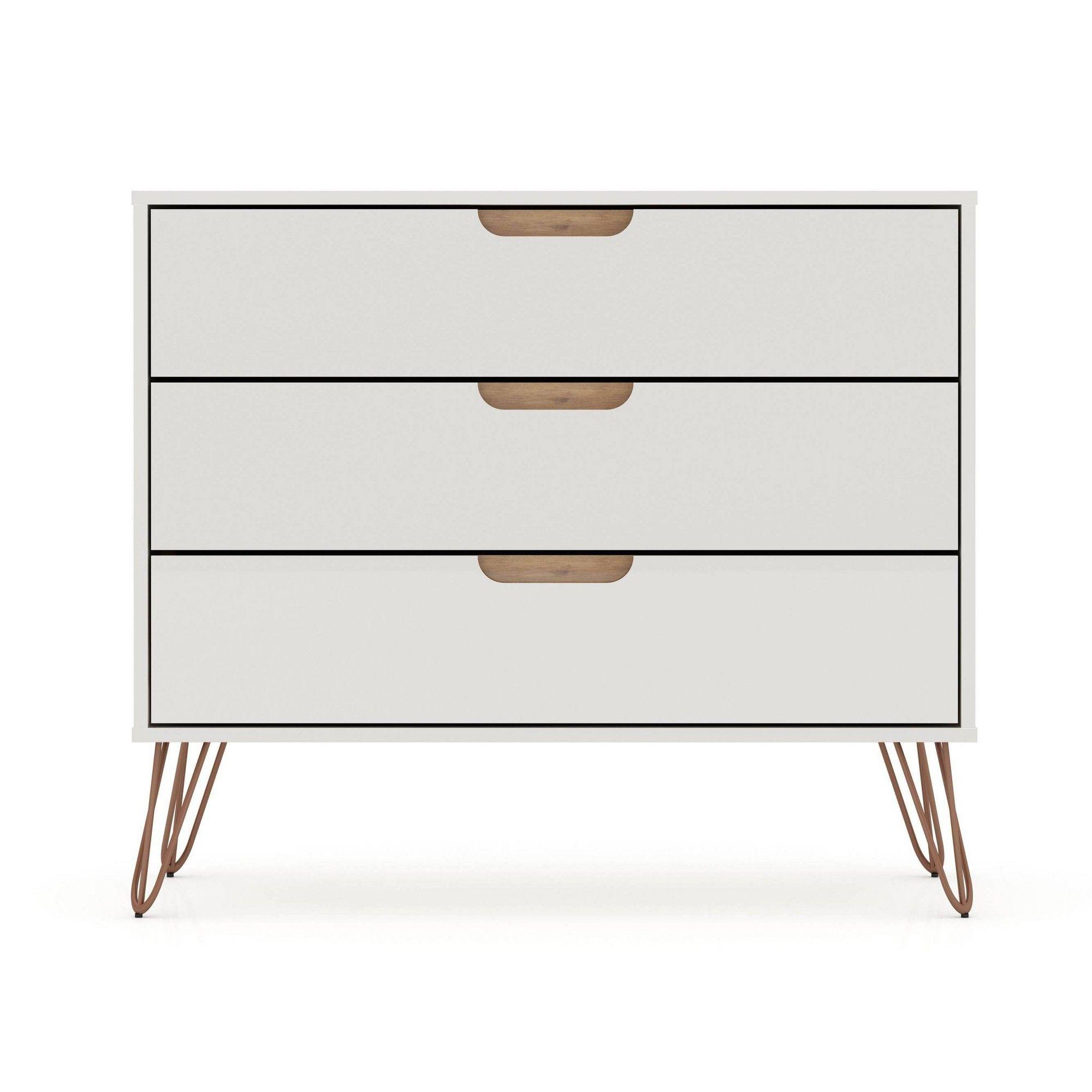 Rockefeller Dresser Off White Natural Manhattan Comfort Modern