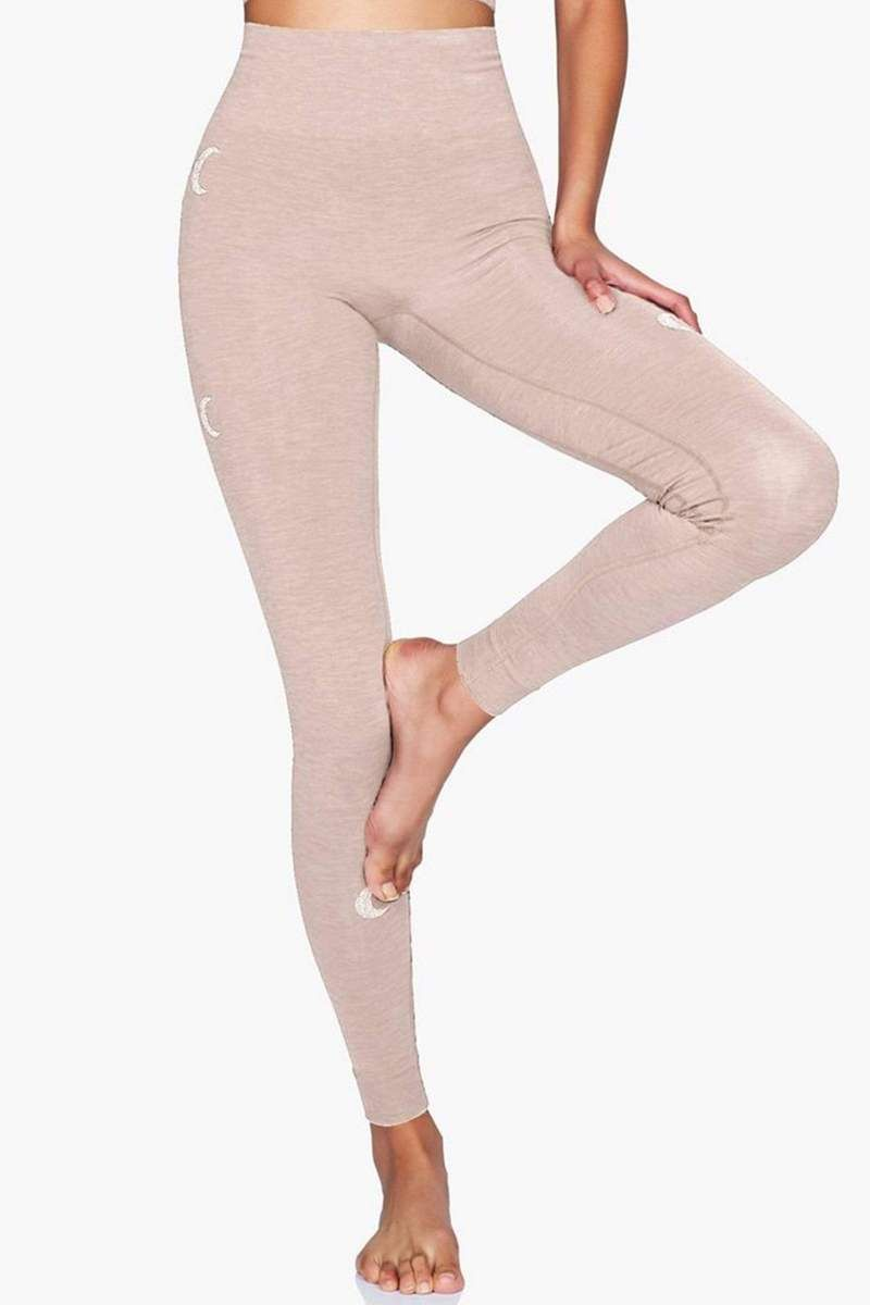 f10f9c929b96d Moonchild Solstice Legging - Rose Dust - YOGA REBEL Funky Leggings, Women's  Leggings, Seamless