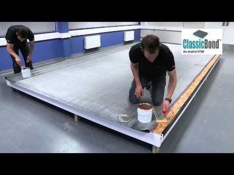 Full Installation Of Classicbond Epdm Roof With Sure Edge Trims Youtube Epdm Roofing Roofing Flat Roof