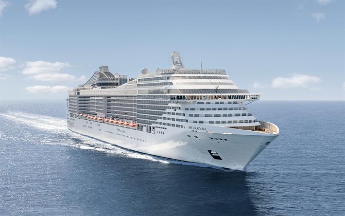 Download Wallpapers Fantasia 4k Cruise Ship Sea Msc Fantasia Msc Cruises Yahta