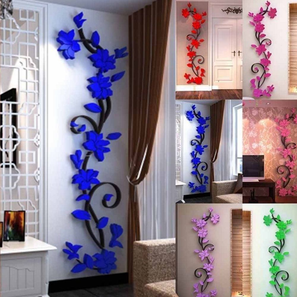 af4234c85 3D Flower Removable Vinyl Quote DIY Wall Sticker Decal Mural Home Room  Decor US
