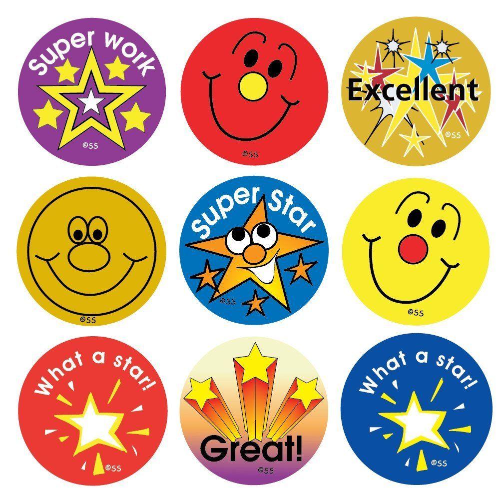 Printed Personalised Teacher School Star Well Done Reward Sticker Labels