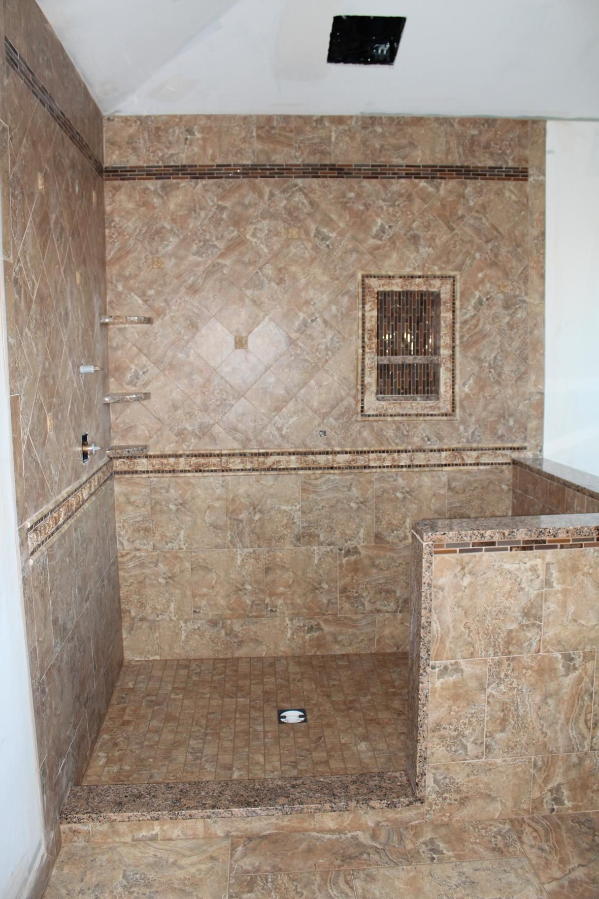 Tile Shower Pictures | Read More About Custom Porcelain Tile Shower  Completed Porcelain Tiled