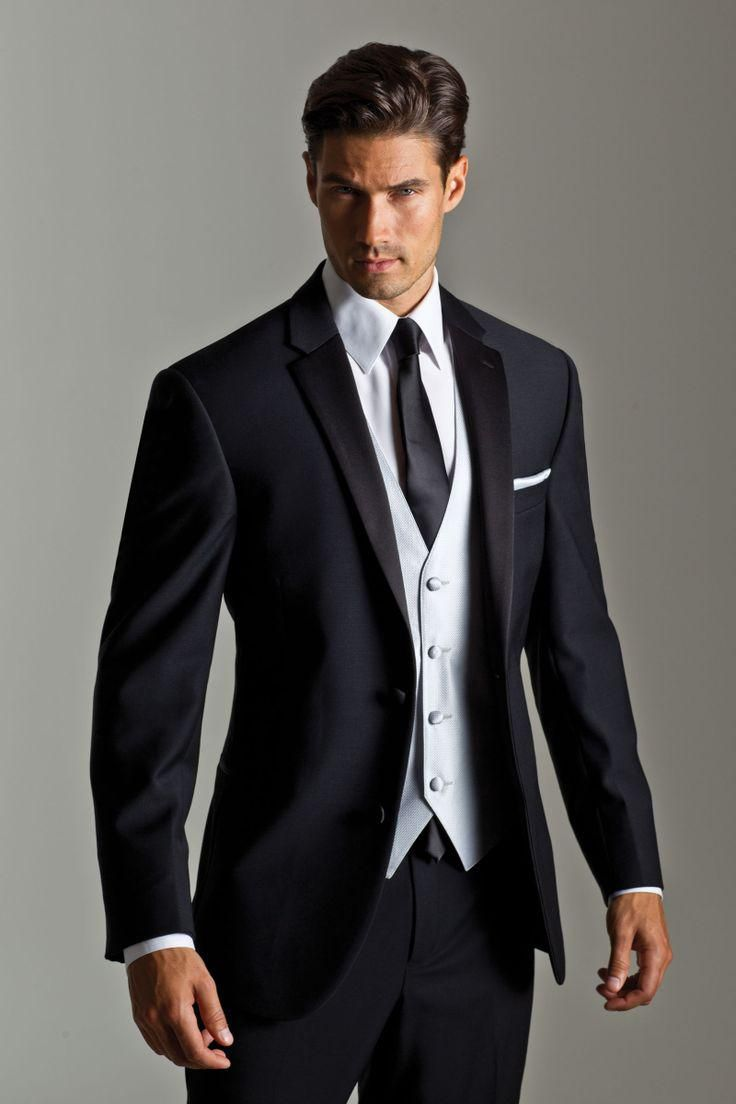 black suit grey vest and tie - Google Search   Butch Wedding Posse ...