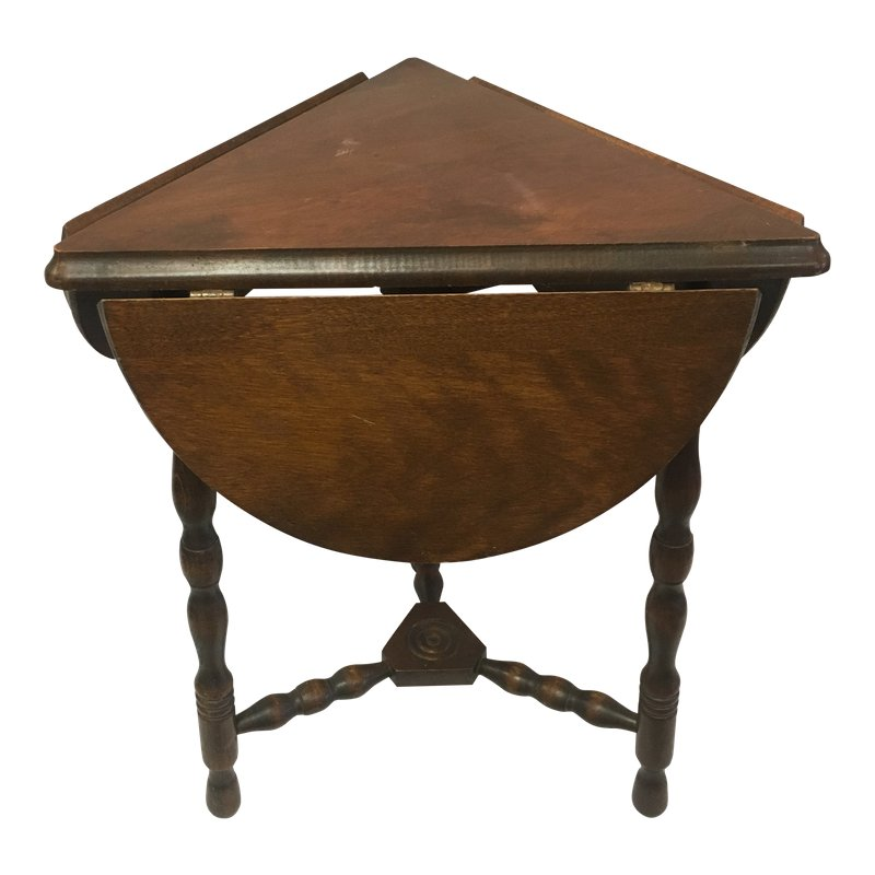 Antique Drop Leaf Side Table In 2019