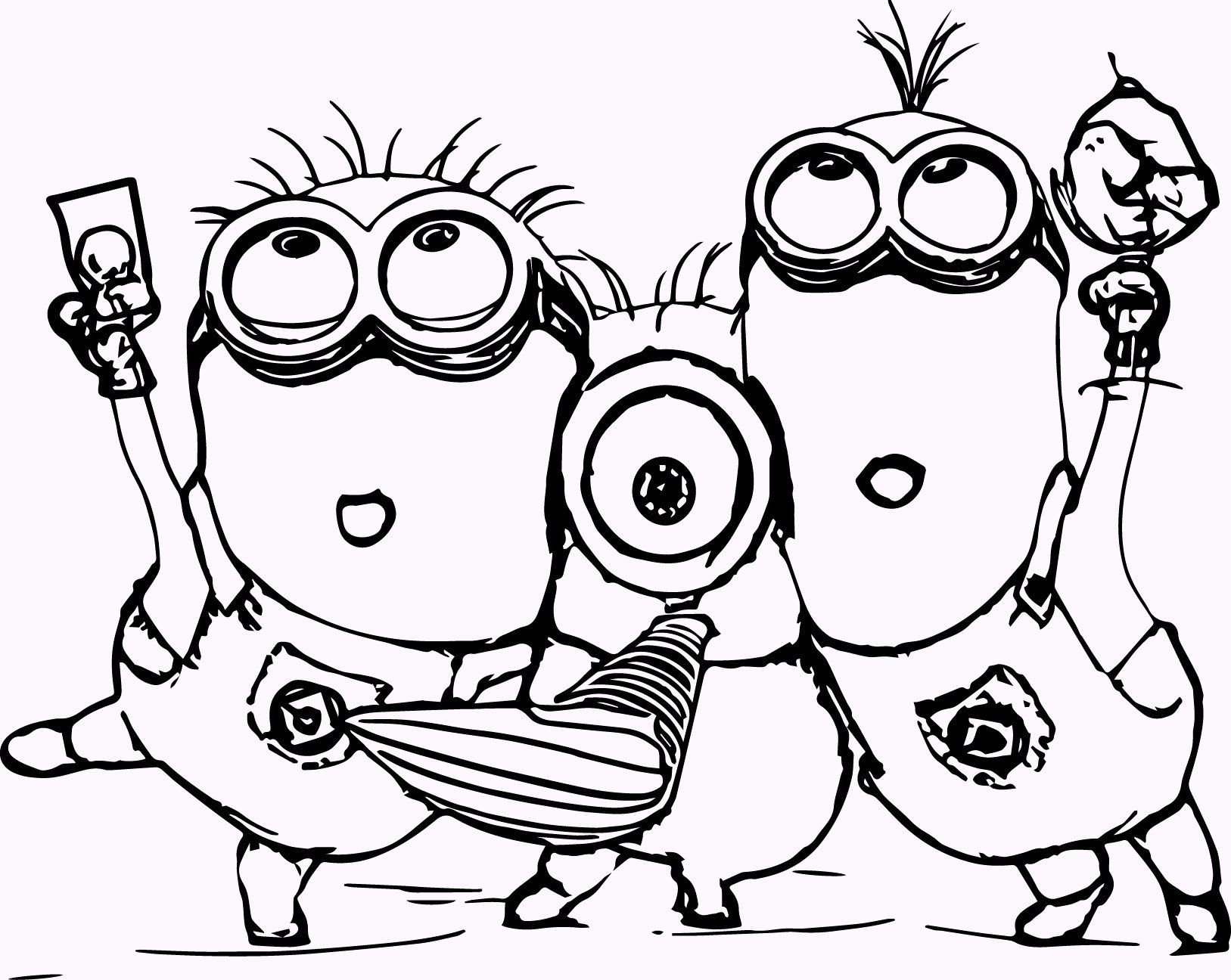 11 Cute Minions Coloring Pages Coloring Pages