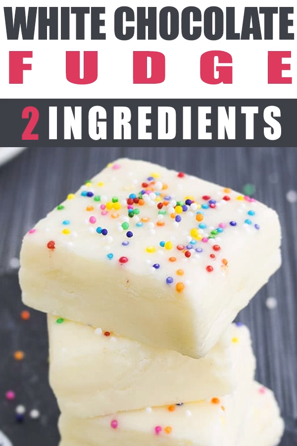 This Easy No Bake 2 Ingredient White Chocolate Fudge Recipe Requires Only Condensed Milk Video Fudge Recipes Chocolate Fudge Recipes White Chocolate Fudge Recipes