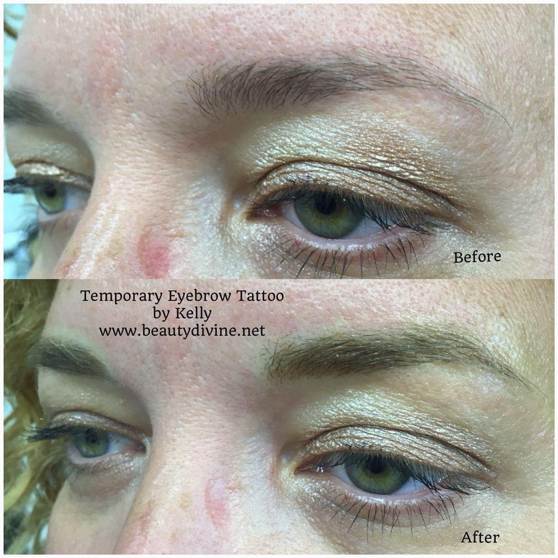 Temporary eyebrow tattoo, permanent makeup, microblading | Temporary ...