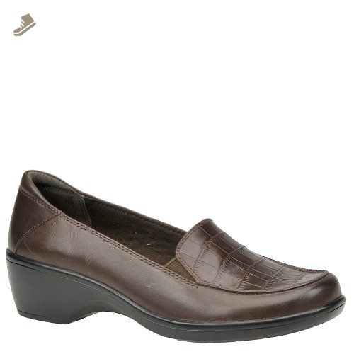 Clarks Women's Thistle Dress Wedge Loafer Brown 7 M US - Clarks pumps for  women (