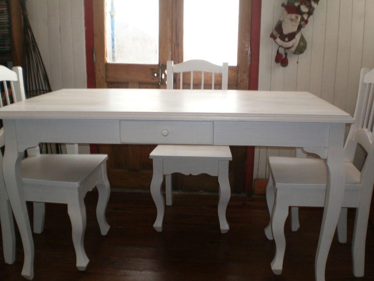 mesa de comedor madera pintada - Buscar con Google   Muebles hogar ...