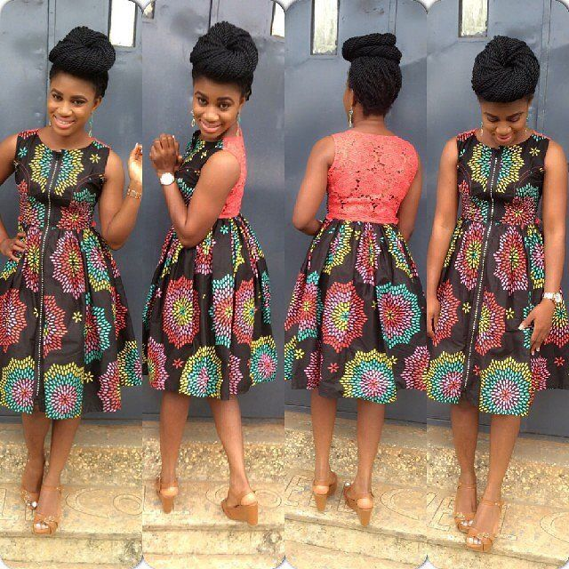 Ankara Short Gown Styles 2015 Simple And Lovely Styles