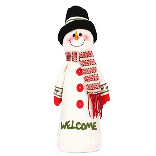 Naladoo Long Christmas Snowman Ornament Dolls With Hat And Scarf Black * Visit the image link more details.