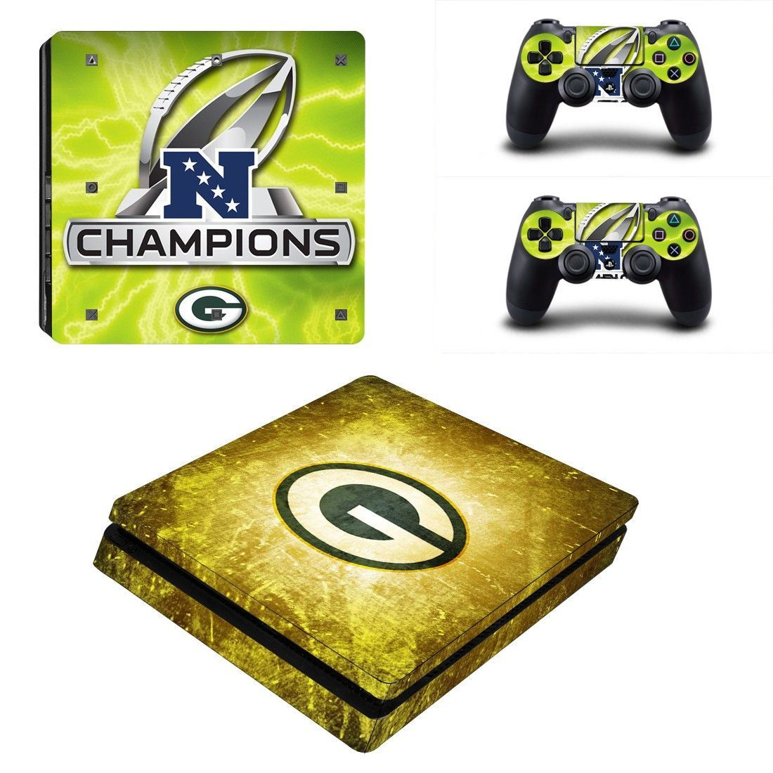 Nfc Champions Logo Ps4 Slim Edition Skin Decal For Console And 2 Controllers Ps4 Slim Ps4 Slim Console Ps4 Pro Console
