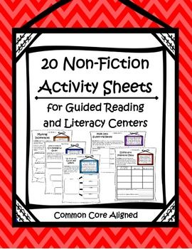 Non-Fiction Activity Sheets } Literacy Centers and Guided