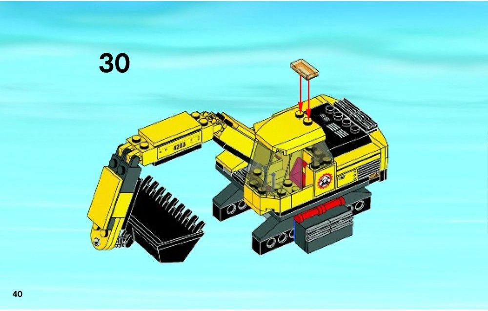 City Excavator Transporter Lego 4203 Lego Excavator Lego City Sets