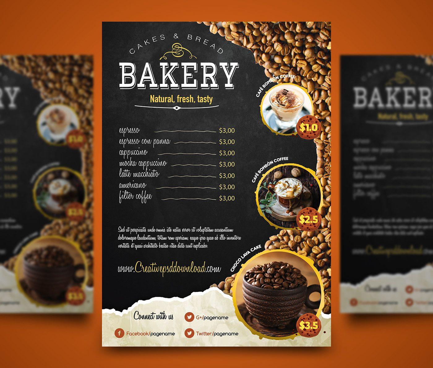 Free Bi Fold Restaurant Menu Templates Download Grafikriver Agency Ai Bi Fold Brochure Bifold Brochures Temp Menu Restaurant Bakery Menu Menu Template
