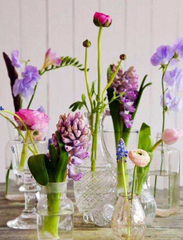 Tischdeko naturmaterialien winter  Zwiebelblumen im Winter-genießen Deko-im glasvasen | Garten ...