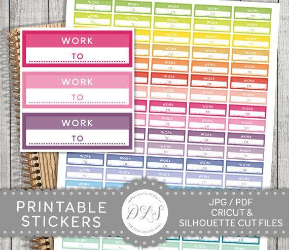 Work Planner Stickers, Work Stickers, Work Schedule Stickers - work schedule