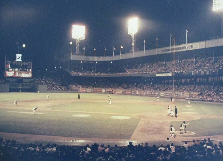 The Polo Grounds by night... Baseball park, Polo grounds
