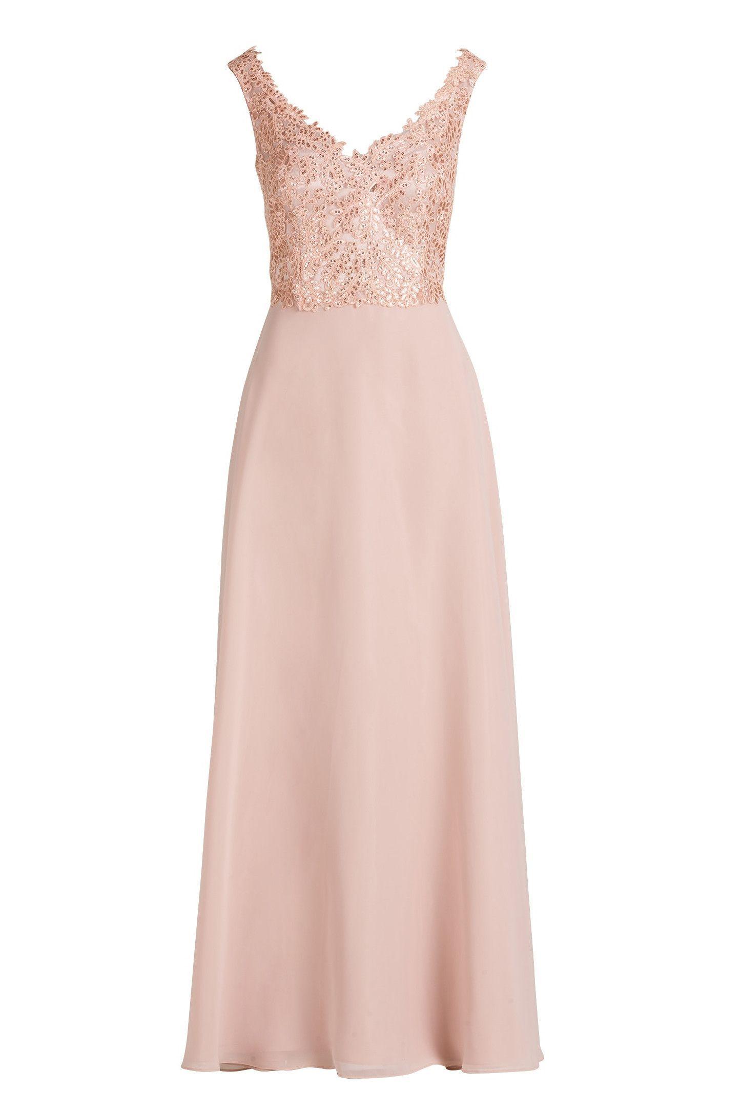 Langes Brautmutterkleid Abendkleid Altrosa Vera Mont Mode Bosckens In 2020 Abendkleid Abendkleid Altrosa Kleider
