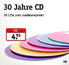 30 Jahre CD    Musik CDs zum Jubiläumspreis!    http://www.jokers.ch/1/cd-angebote/30-jahre-cd.html