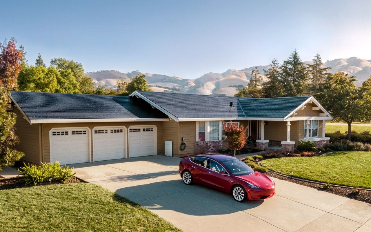 Tesla Solar Roof installed on a customer's home