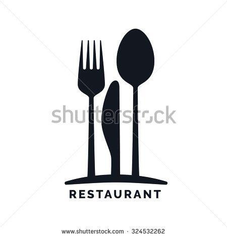 Gastronomy Restaurant Symbol Fork Knife And Spoon Logo Template Stock Vector