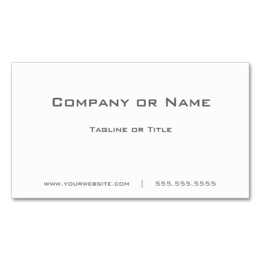 Simple plain white minimalist business card business cards simple plain white minimalist business card templates by tigerlynx from zazzle reheart Images