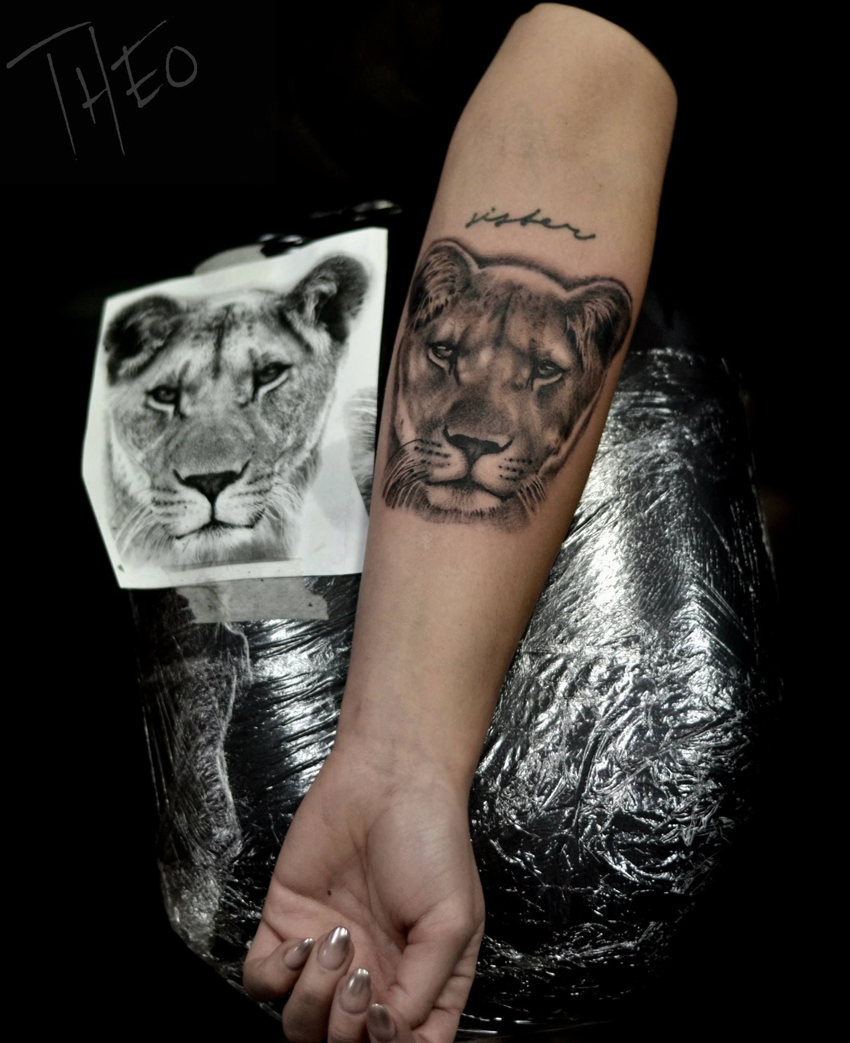Lioness Tattoos: Lioness Tattoo By Theo. Limited Availability At Redemption