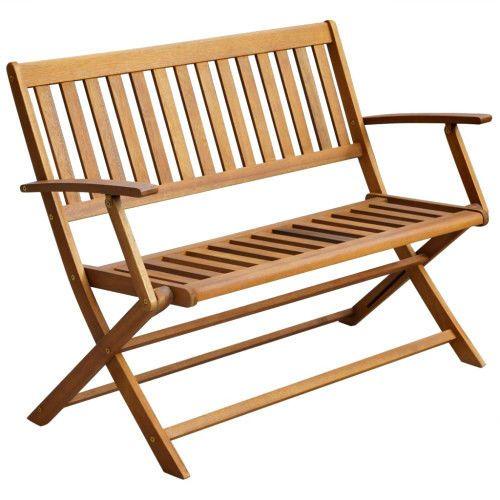 Wooden Garden Folding Bench Outdoor Terrace Balcony Porch Seat Furniture  2Person #SmartDealsMarket